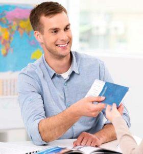 Student getting their passport