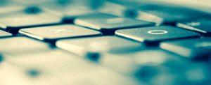 Extreme closeup of a computer keyboard