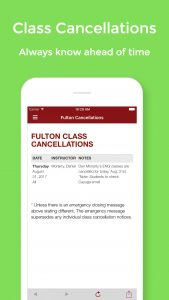 View and manage your class cancellations