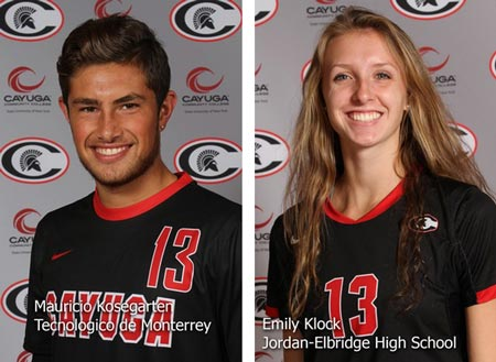 Spartan Athletes-of-the-Week Emily Klock and Mauricio Kosegarten