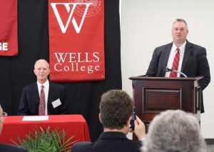 Cayuga President Brian Durant speaks in regards to the Well College scholarship agreement