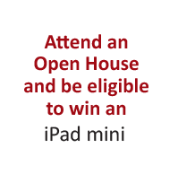 Attend a Cayuga Open House and you will be eligible to win an Apple iPad