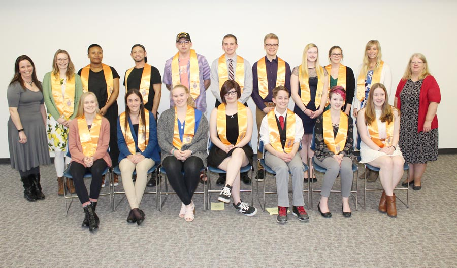 Cayuga Inducts 33 Students into Academic Honor Society