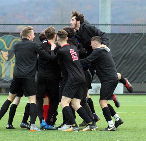 Soccer Team Celebration