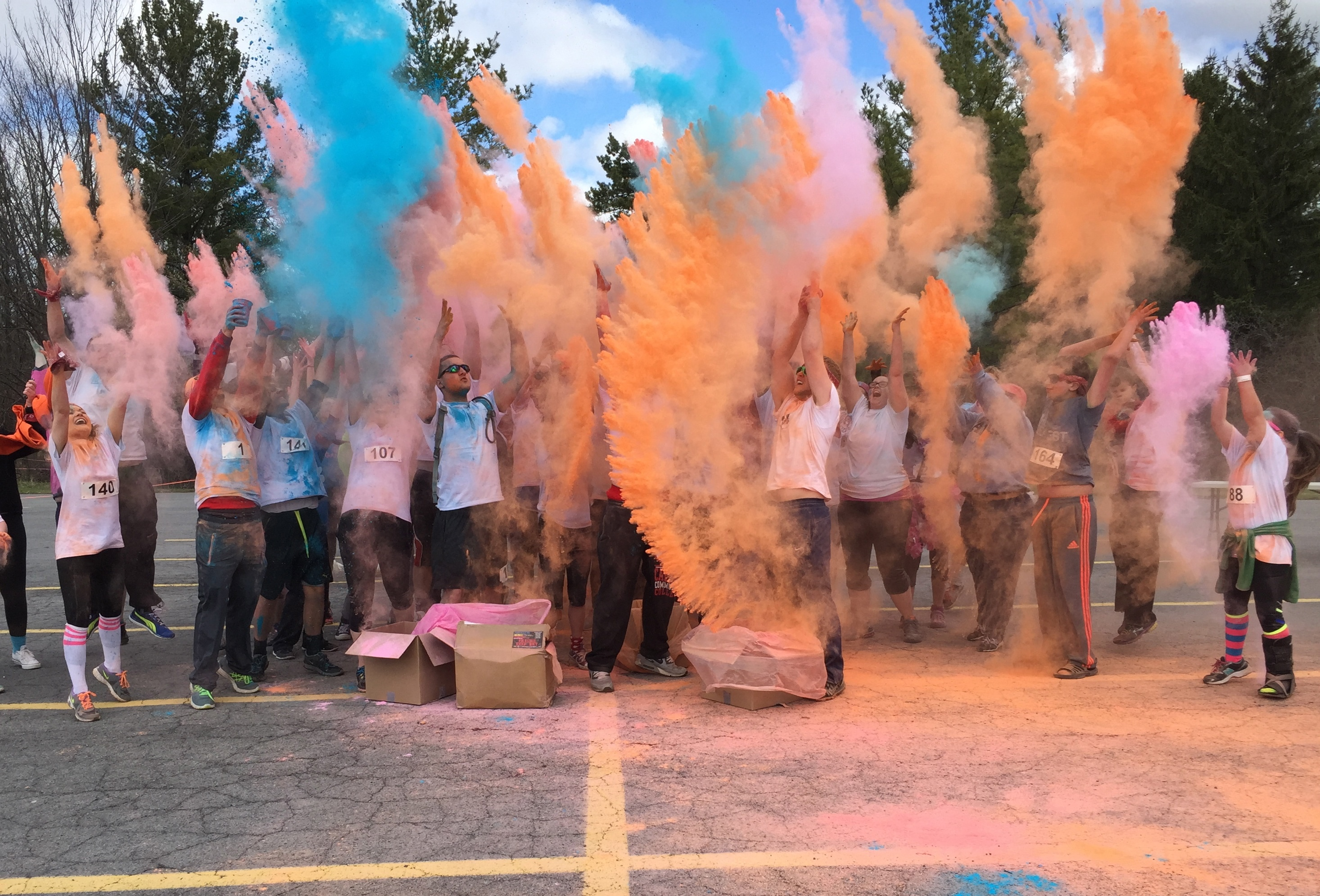 Auburn's Matthew House benefited by Color Run at Cayuga Community College