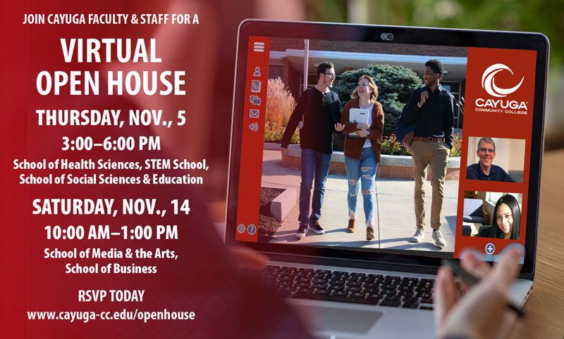 Join Cayuga Faculty and Staff for a Virtual Open House