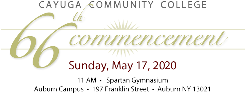 66th Commencement on Sunday, May 17, 2020
