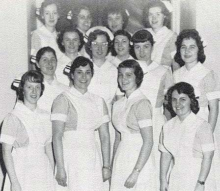 Cayuga nursing students from 1961