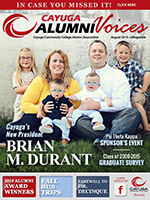 Cover image of the Cayuga Alumni Voices magazine, August 2015
