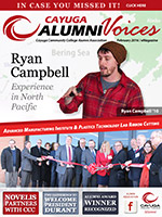 Cover image of the Cayuga Alumni Voices magazine, Winter 2016
