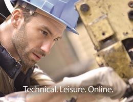 Brochure cover showing a man in a hard hat