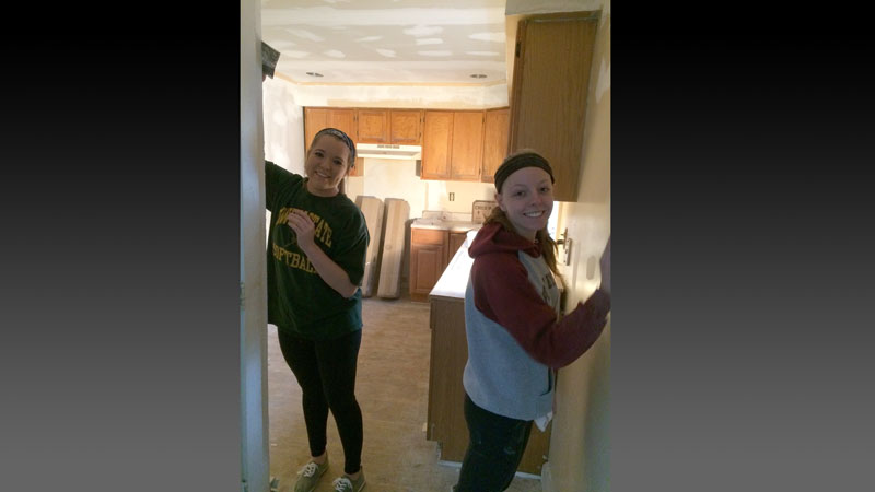 PTK Club Auburn chapter volunteered their time at a Habitat for Humanity House in Auburn NY